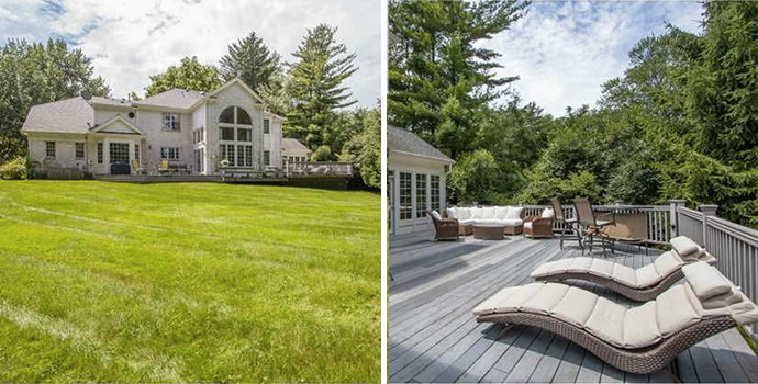 Expansive Patio Overlooking Enormous Yard