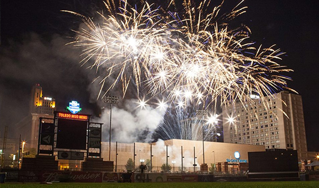Mud Hens Fireworks