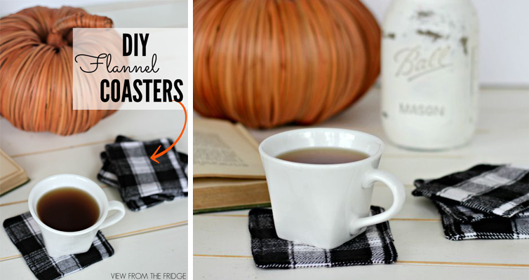 DIY Flannel Coasters