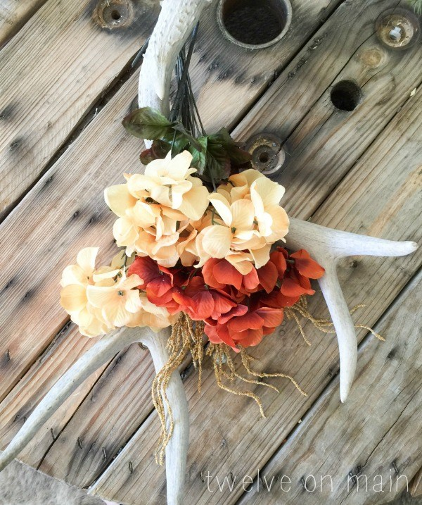 Fall Antler Wreath
