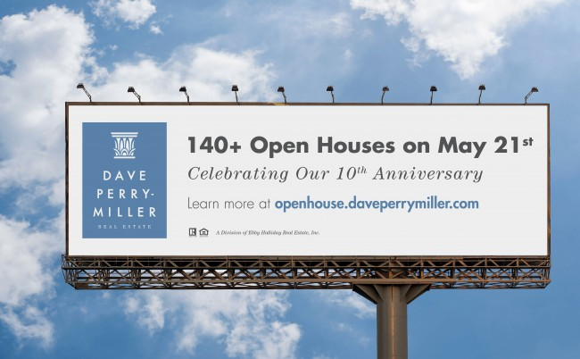 Dave Perry-Miller Real Estate has purchased five billboards around Dallas to promote this Sunday's Open House extravaganza.