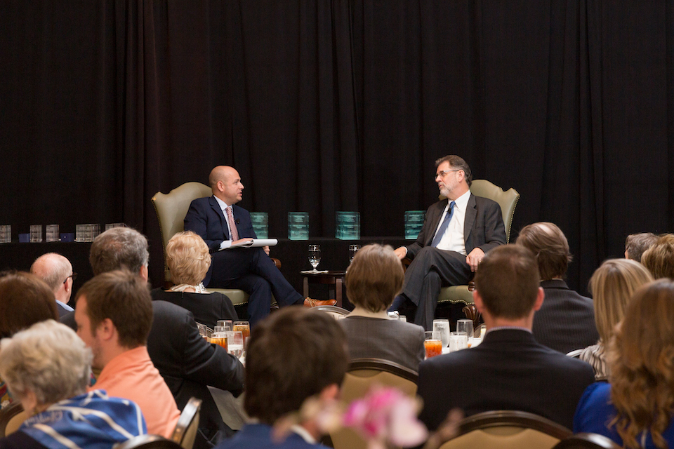 Ebby CEO, AT&T CFO conduct 'fireside chat' at agent awards lunch