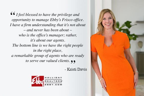 Kristi Davis Named Sales Manager of Ebby's Frisco Office