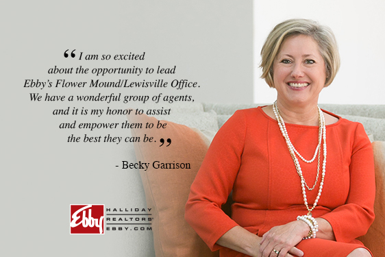 Becky Garrison Named Manager of Flower Mound/Lewisville Office