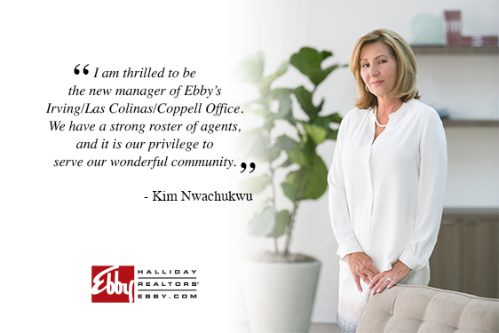 Kim Nwachukwu Named Sales Manager of Ebby's Irving/Las Colinas/Coppell Office