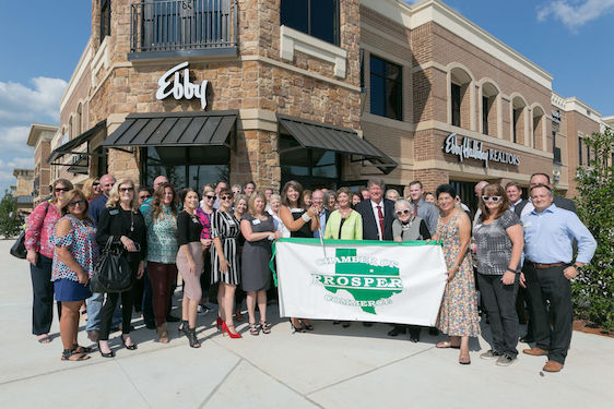 Ebby Halliday Realtors recently hosted a Chamber of Commerce ribbon cutting at its brand-new Prosper I Celina Office.