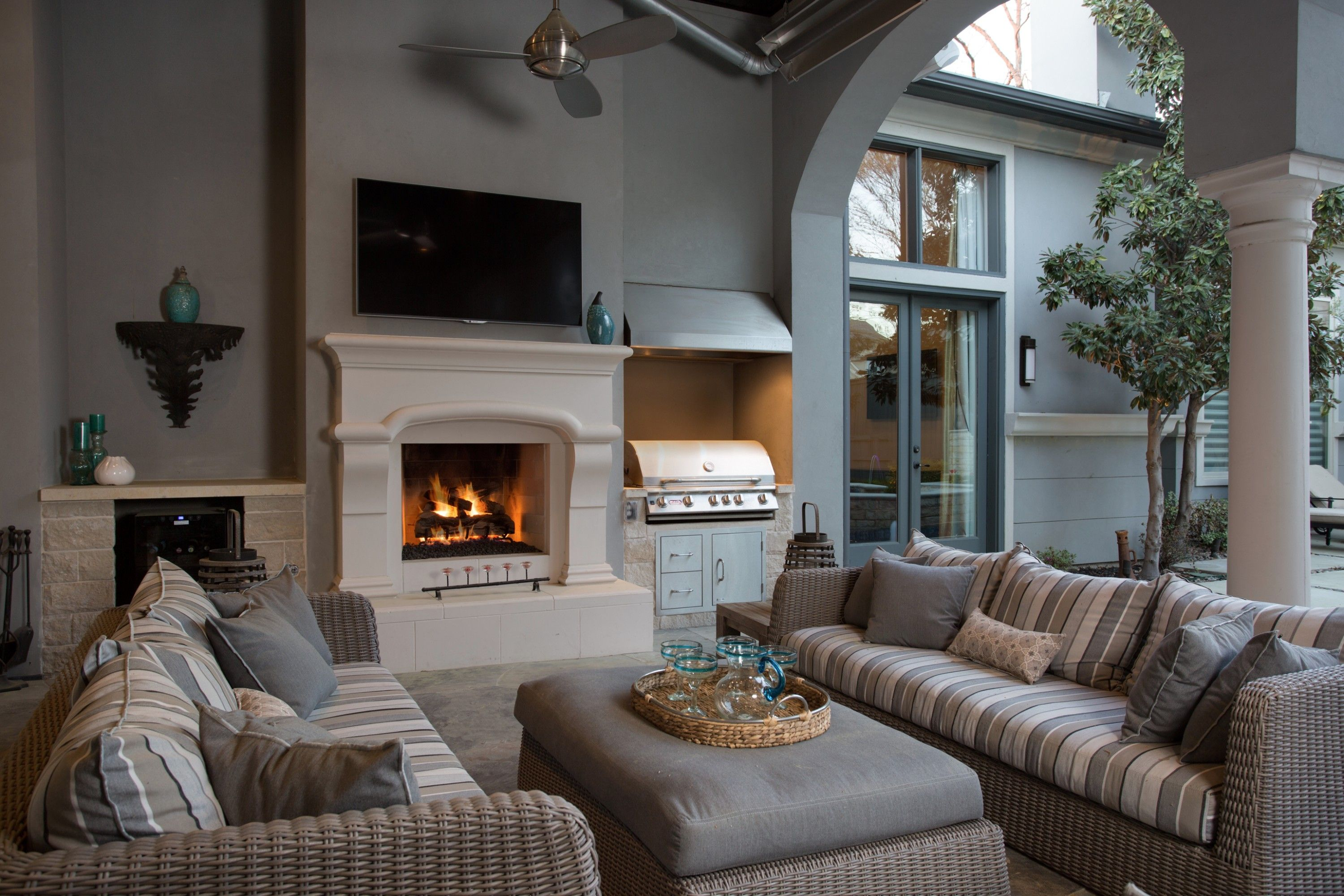 cozy fall fireplaces