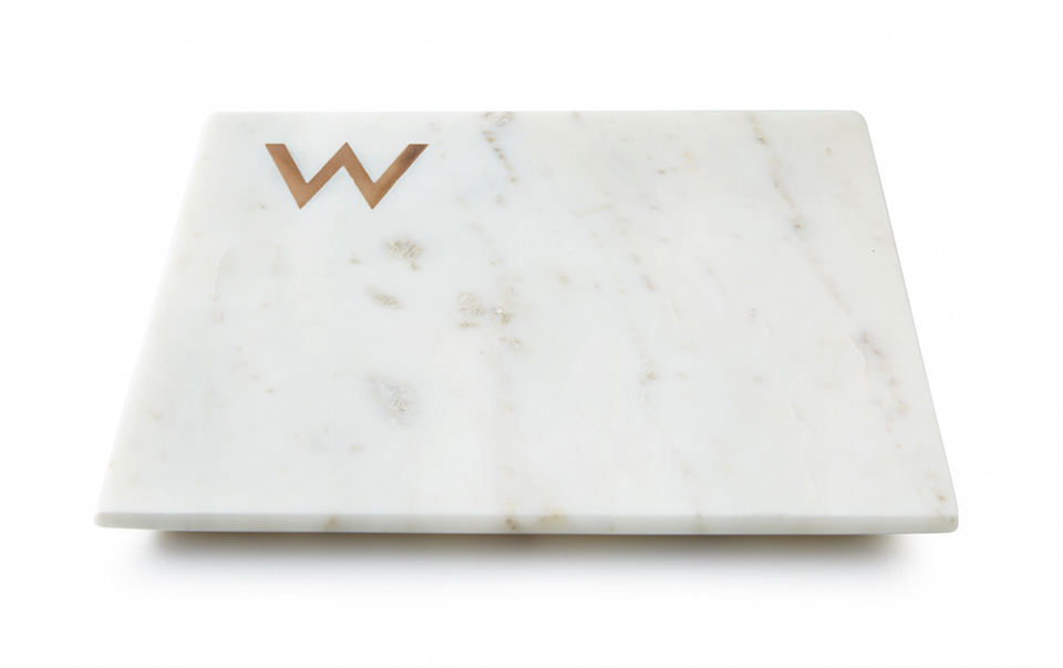 White Marble Monogram Boards