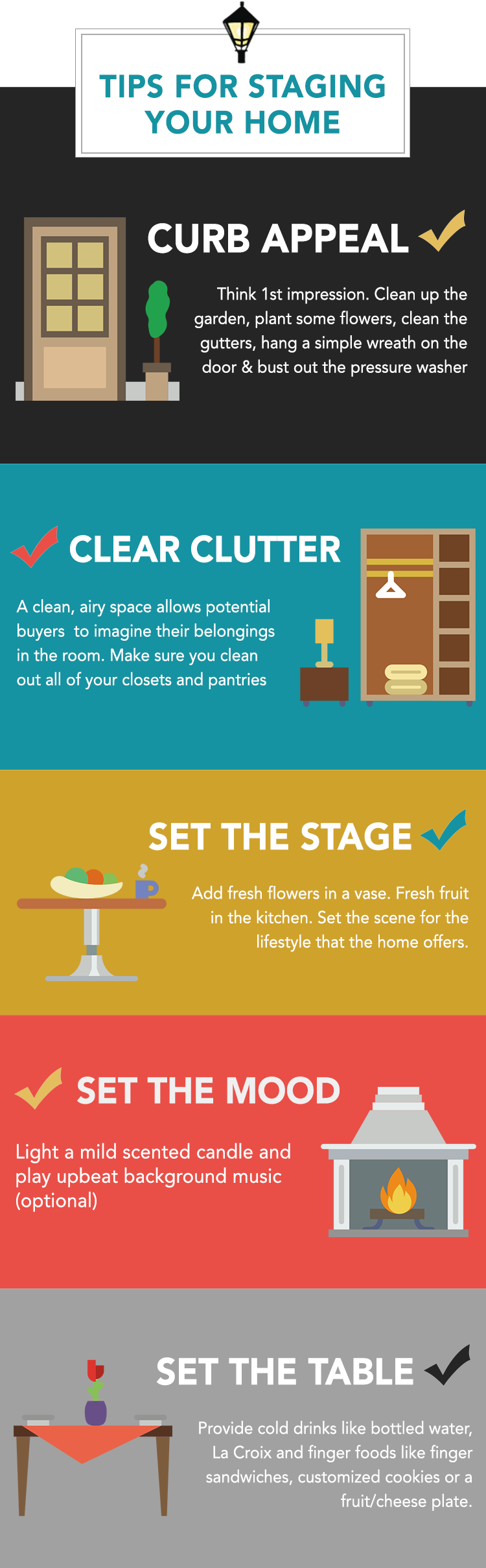 5 Tips For Staging Your Home Infographic