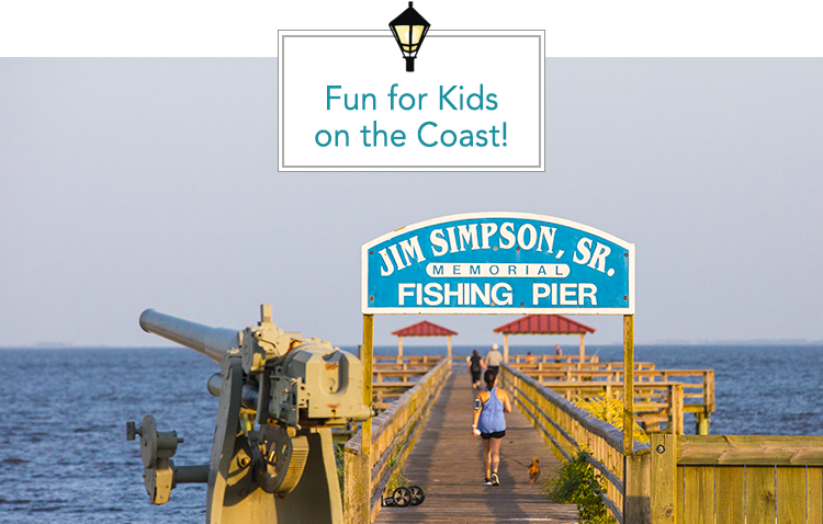Fishing is a fun kid-friendly activity on the MS Gulf Coast
