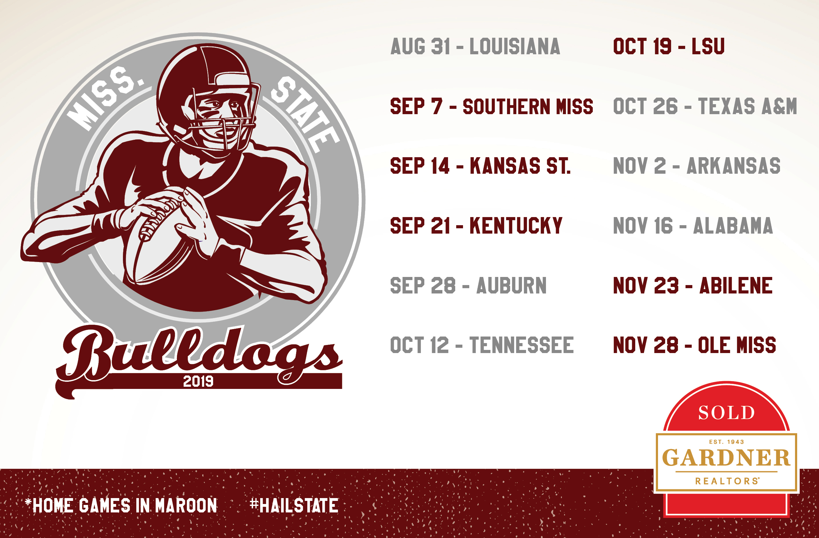 MS State Schedule 2019