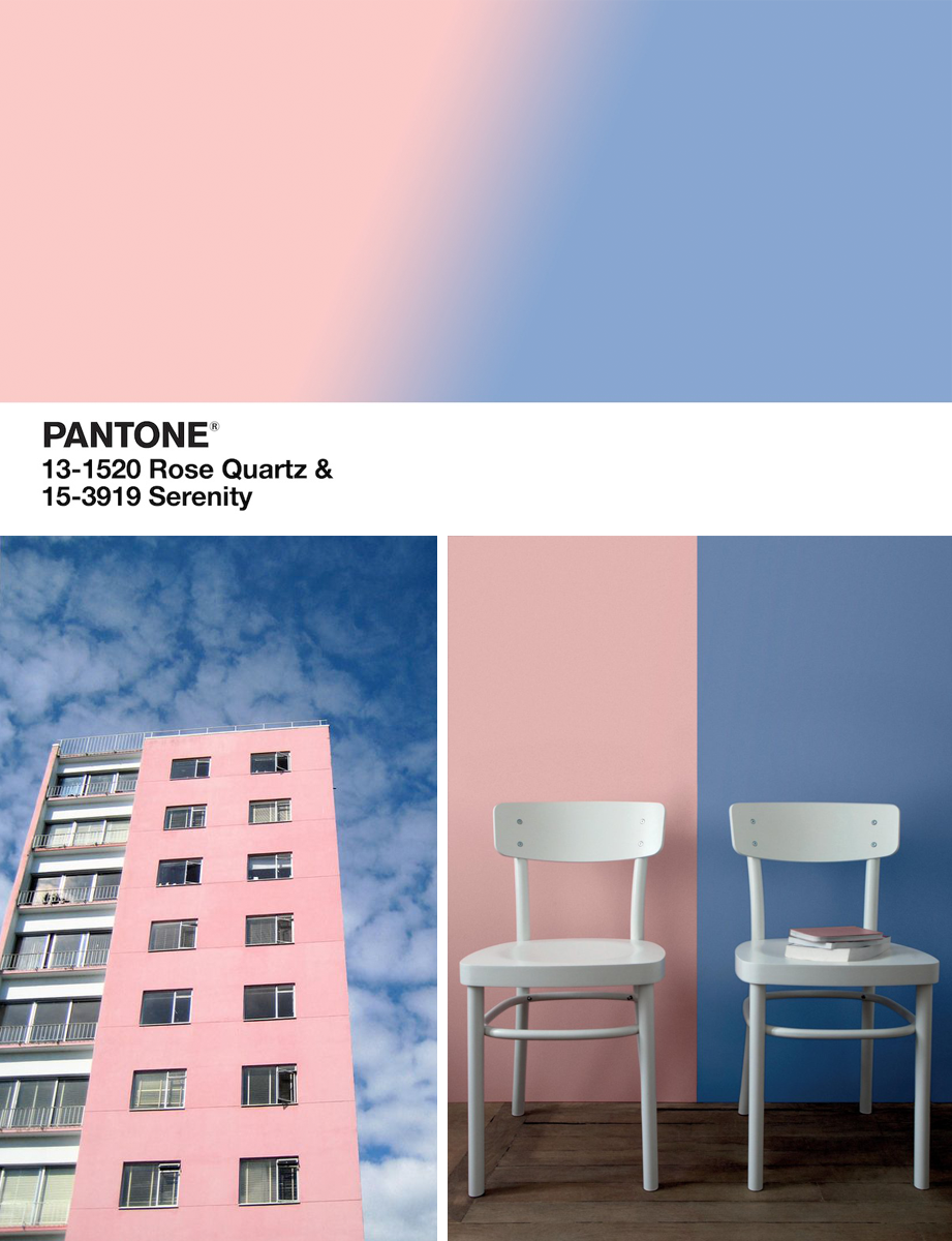 Decorating with Pantone\'s Colors of the Year: Rose Quartz + Serenity