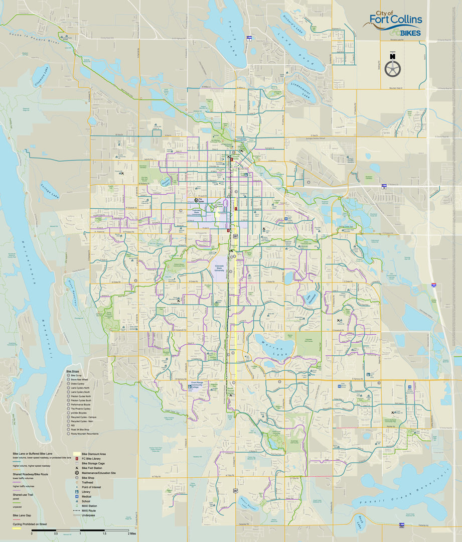 Fort Collins Bike Map