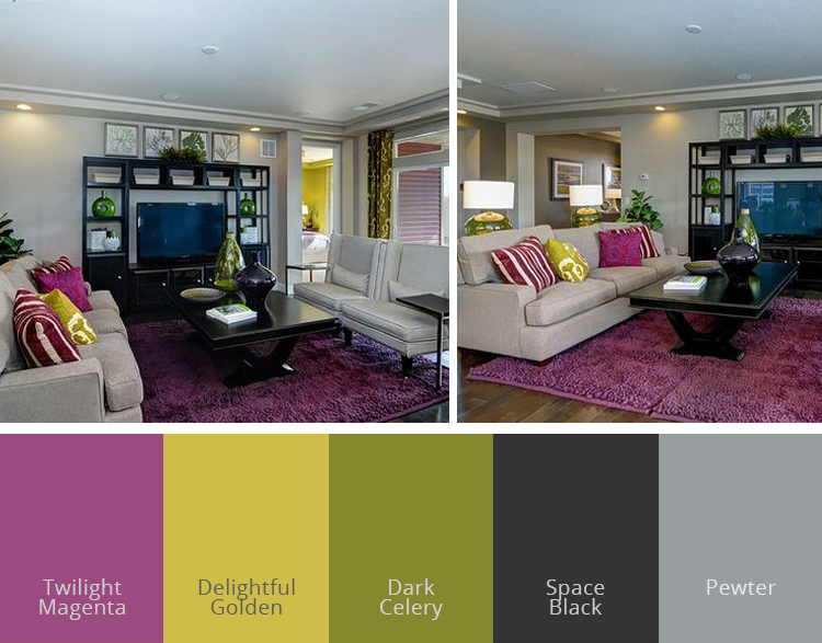 A Bold Living Room. Home Color Inspiration