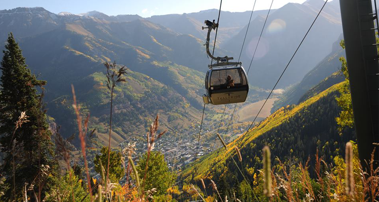 Places to see Fall Aspens in Colorado Telluride Free Gondola