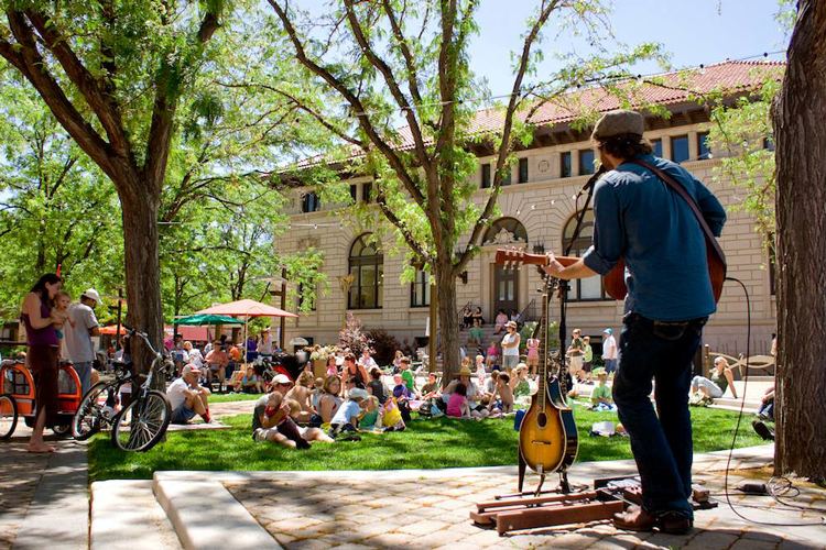 Noontime Notes Concert Series Old Town Fort Collins Colorado