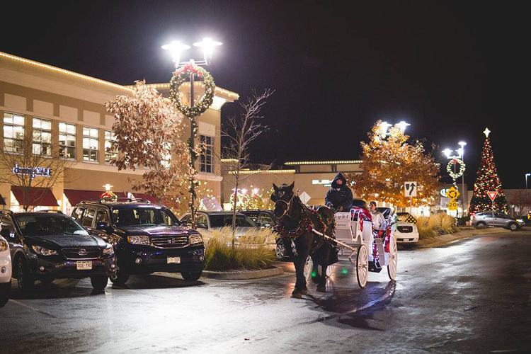Front Range Village Fort Collins where to see holiday lights Christmas
