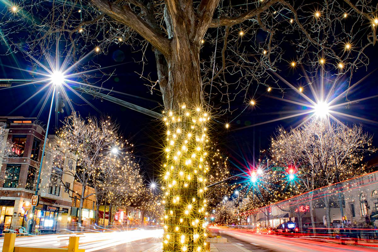 old town downtown fort collins where to see holiday lights christmas