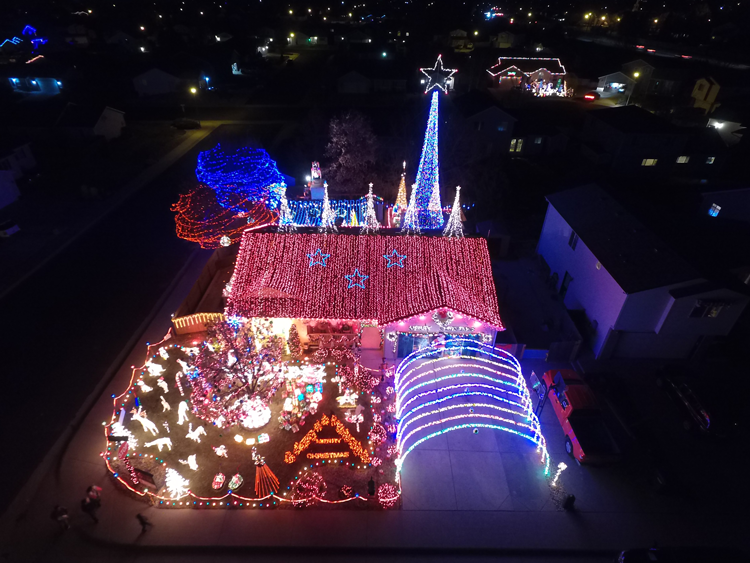 Greeley Grizwalds best light displays in Fort Collins Colorado