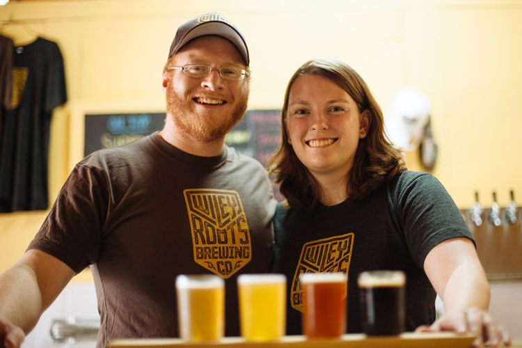 Kyle and Miranda Carbaugh Greeley Wiley Roots Brewing
