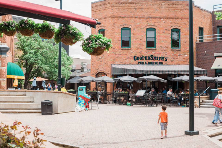 CooperSmith's Pub and Grill Fort Collins Colorado patio restaurant with a view