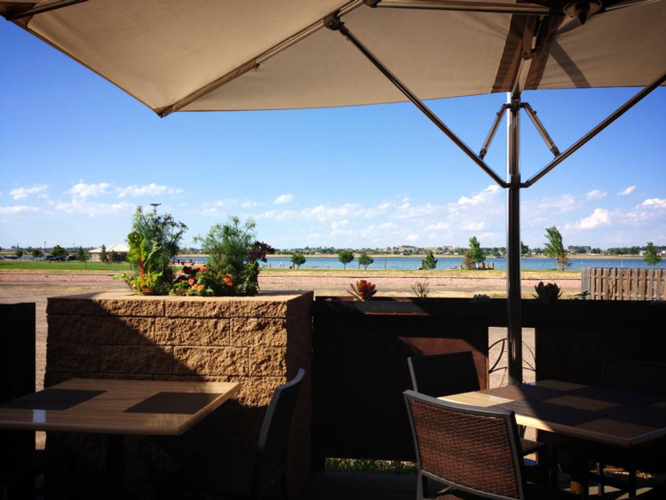 Chimney Park Windsor Colorado patio restaurant with a view