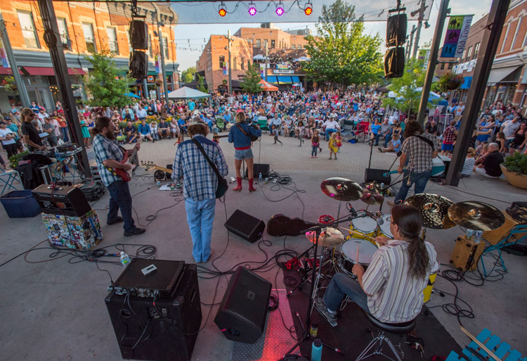 Downtown Sessions Concert Series Fort Collins Colorado Summer