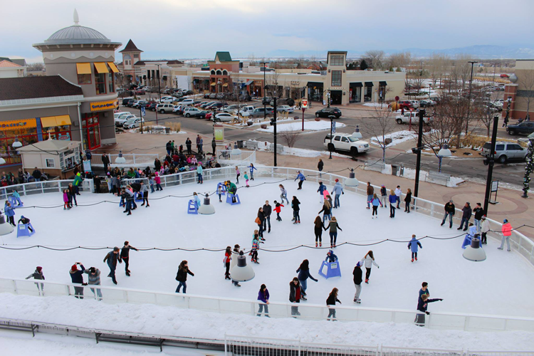 Promenade Shops at Centerra Ice Rink Loveland Colorado things to do during winter