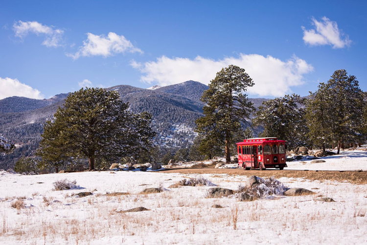 Estes Park Trolleys guided tours Northern Colorado