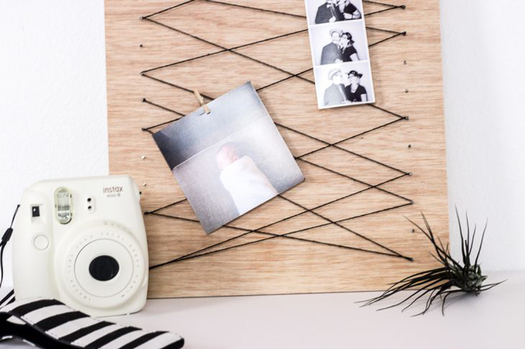 A Crafted Passion Blog Minimalist Clothespin Memo Board