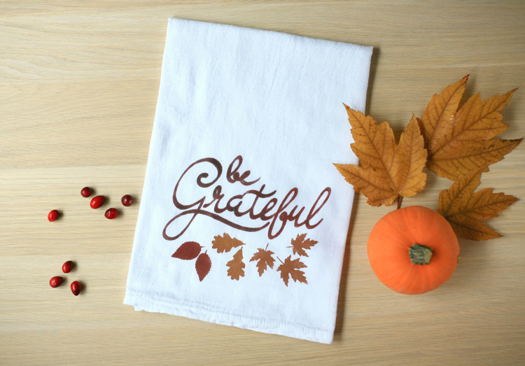 Thanksgiving Tea Towel Silhouette Stencil From Create/Enjoy