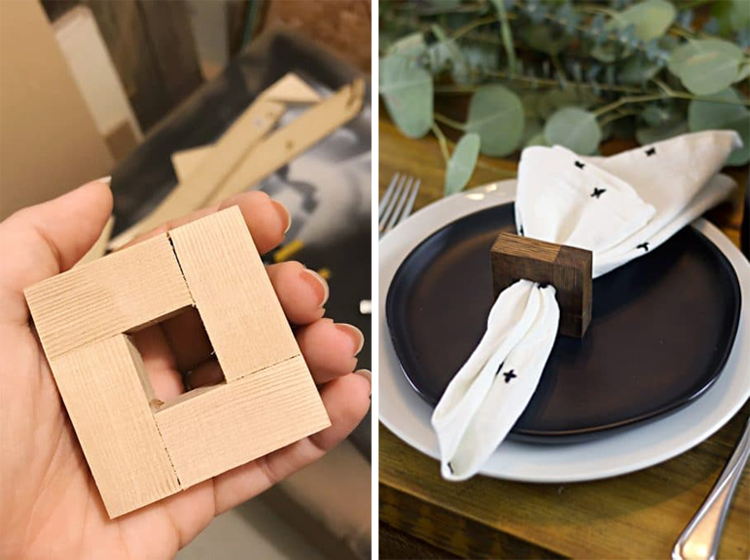 DIY Modern Wood Napkin Rings From A Crafted Passion