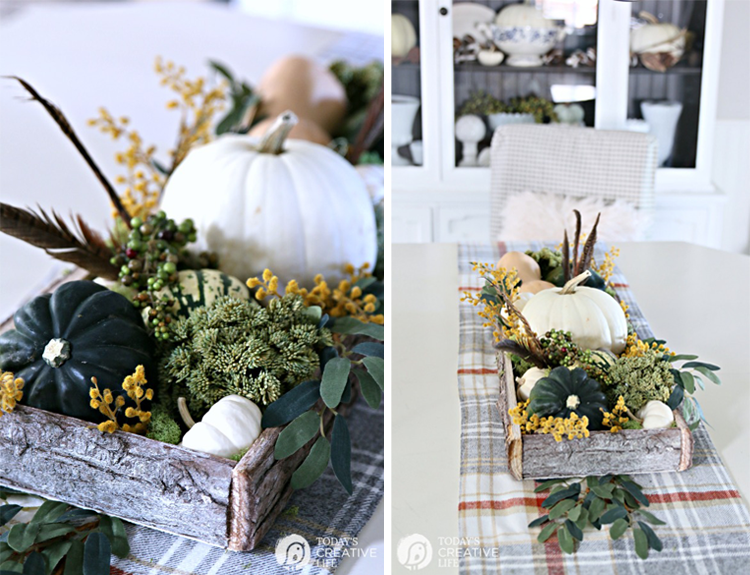 Fall Rustic Centerpiece + Easy Fall Table Decor From Today's Creative Life