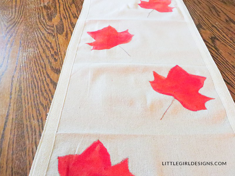 Painted Fall Table Runner From Little Girl Designs