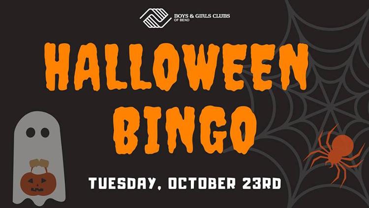 Halloween Bingo at Boys & Girls Club of Bend
