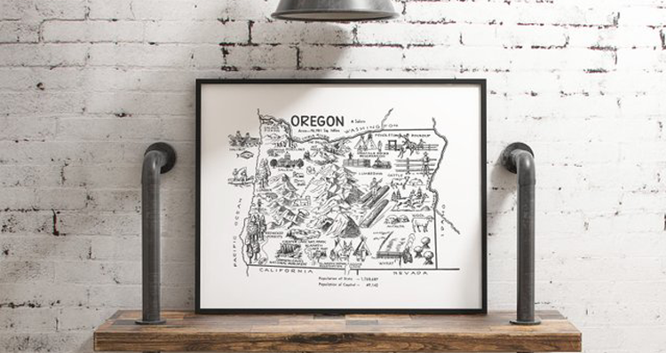 Oregon-Inspired Wall Art You Can Buy on Etsy to Show Your State Pride