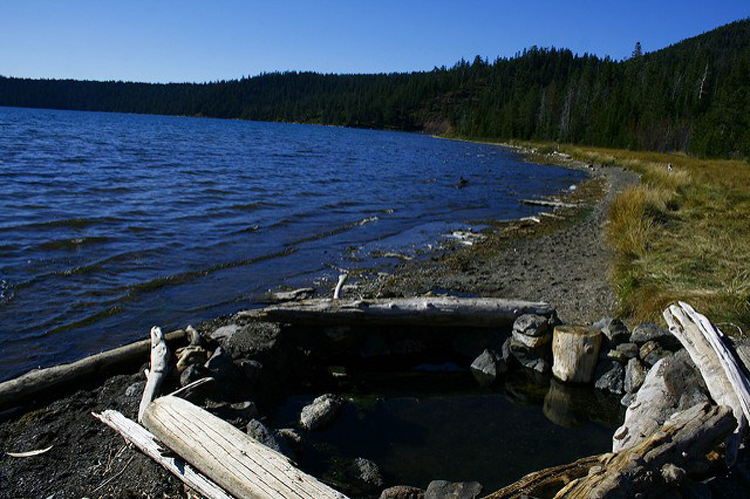 Paulina Lake Hot Springs Oregon