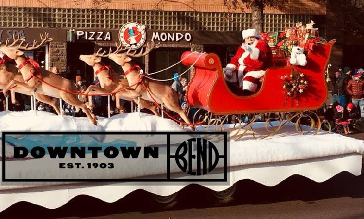 Santa in Downtown Bend, Oregon