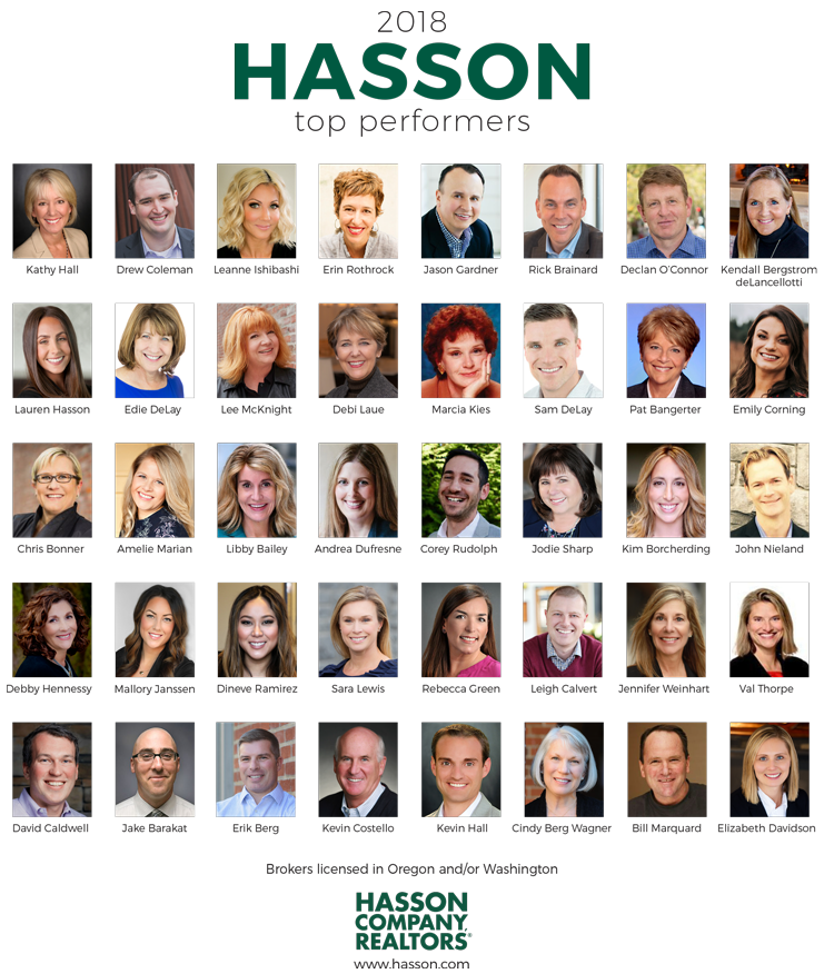 The Hasson Company Top 40 Performers of 2018