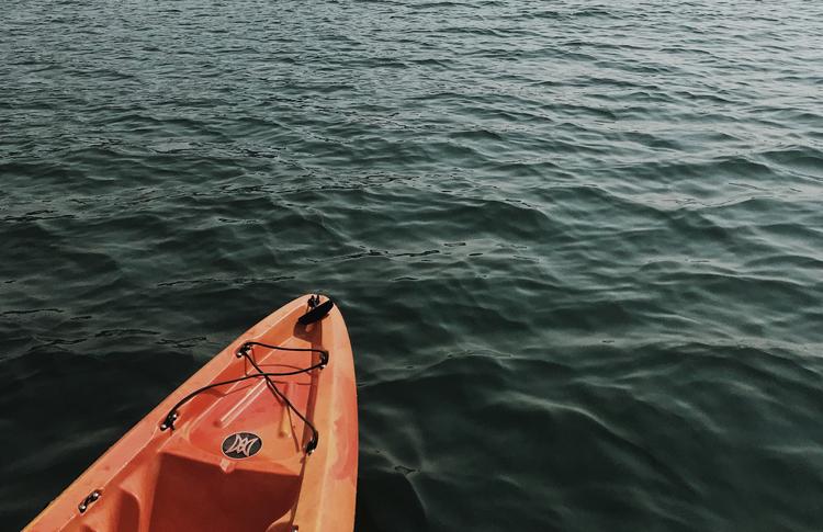 Kayaking in Hood River, OR