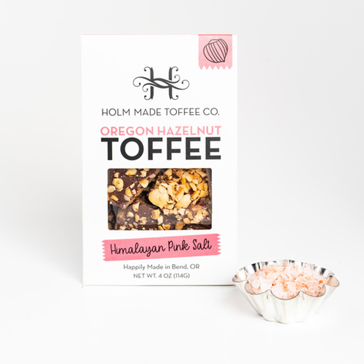 Hazelnut Toffee with Himalayan Pink Salt From Holm Made Toffee Co.