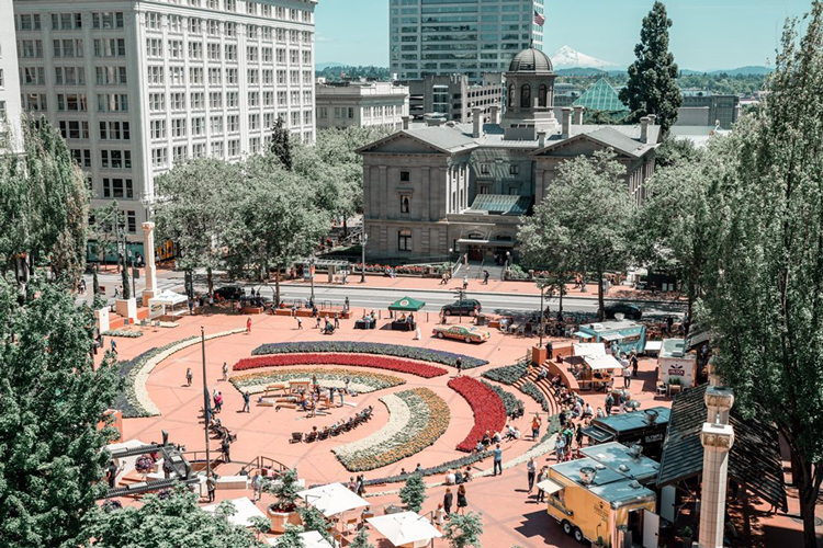 Pioneer Courthouse Square Portland, OR