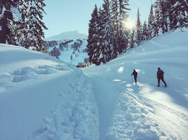 Snowshoeing on Mount Bachelor