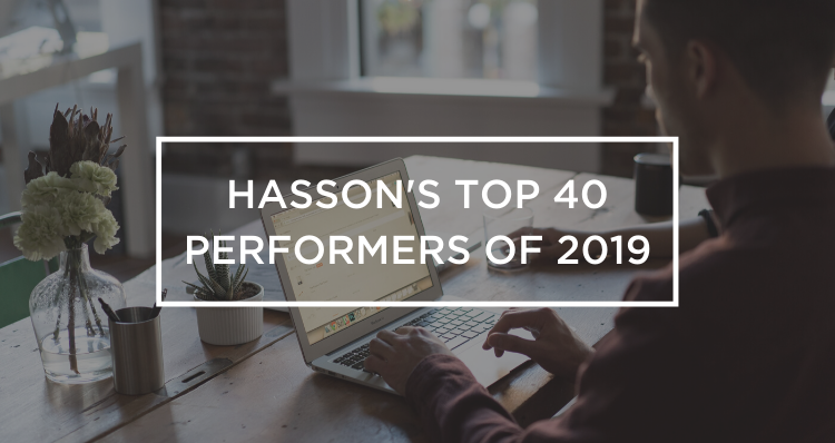 Congratulations to Hasson's Top 40 Performers of 2019!