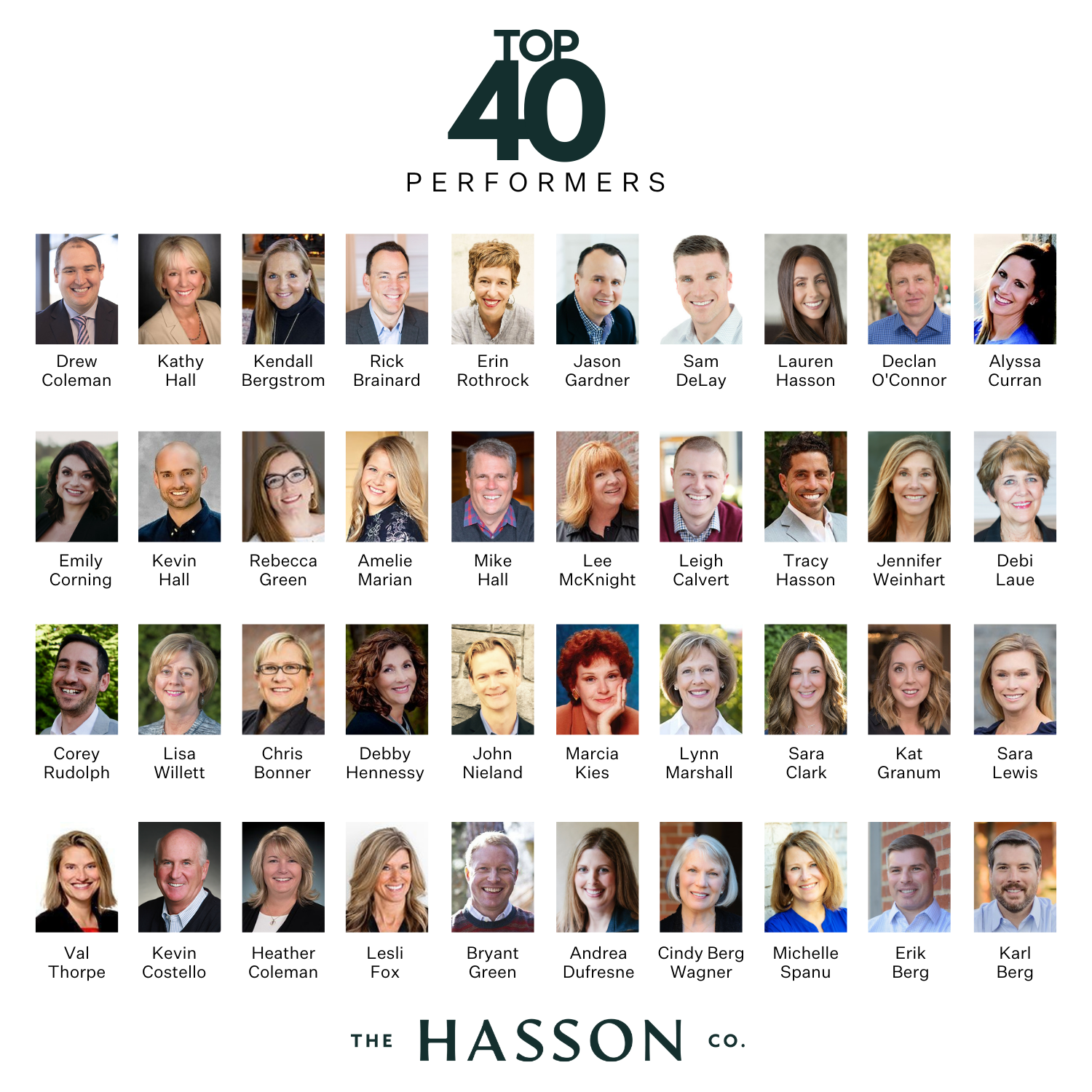 The Hasson Company Top 40 Performers 2020