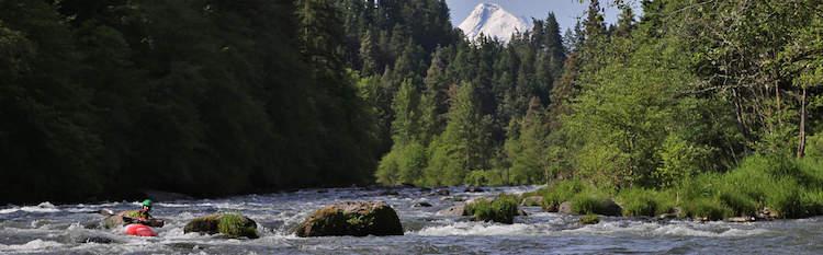 Lower Hood River Kayaking