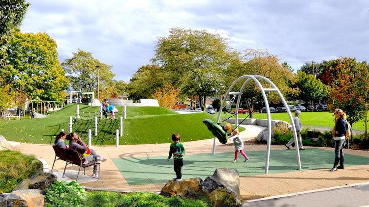 Harper's Playgroundat Arbor Lodge Park Portland, OR