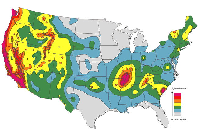 Should You Invest In Earthquake Insurance - Us earthquakes map