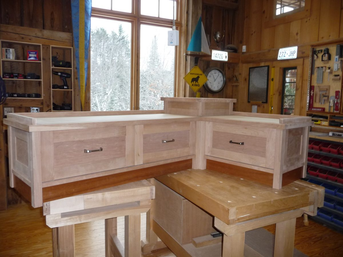 Woodworking project at Beaver Brook Farm, VT