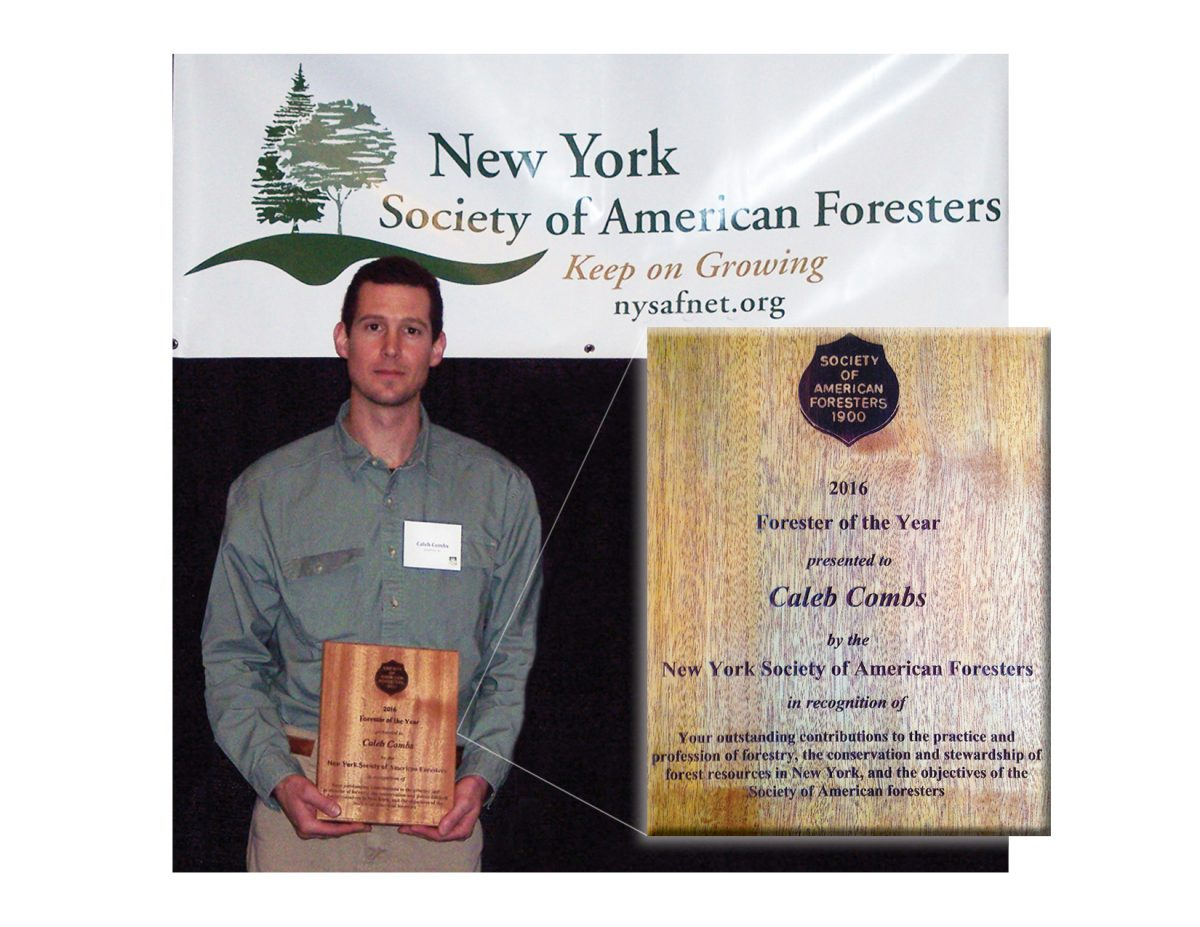"Caleb Combs, awarded ""forester of the year"""